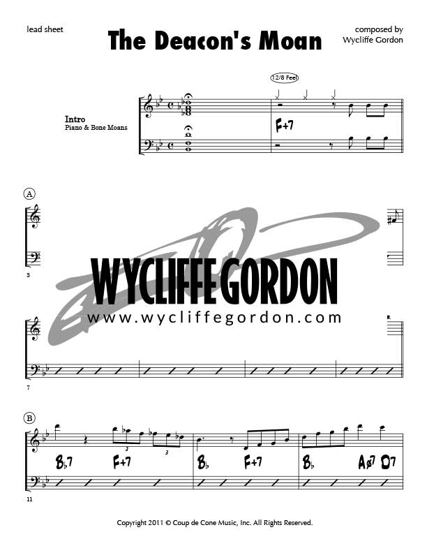 Sheet Music – Wycliffe Gordon